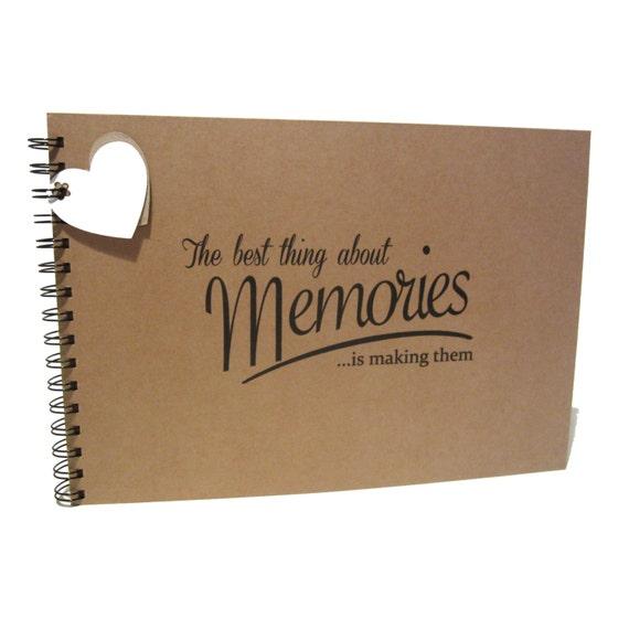 A5 A4 Best Memories, Scrapbook, Card Pages, Photo Album, Keepsake, Landscape