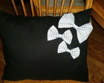 Black n Bows Decorative Pillow