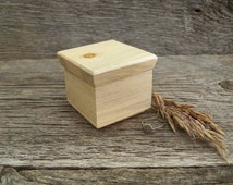 Pine Ring Box / Rustic Engagement Ring Box / Handmade Ring Box made from Blued Pine.