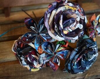 Comic Book Flower Bouquet