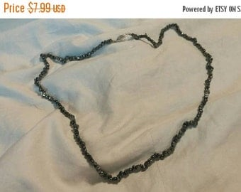 Inexpensive Bling Tiny Black Bead Hermatite 28 inch Necklace Costume Jewelry Fashion Accessory