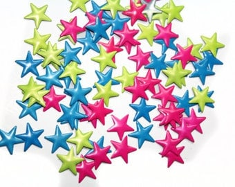 Iron On Colorful Hot fix Stars for Crafts and Nails Art