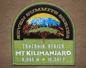 Mt. Kilimanjaro Seven Summits Series Patch