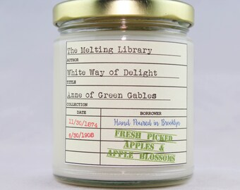 White Way of Delight - Anne of Green Gables Inspired Candle