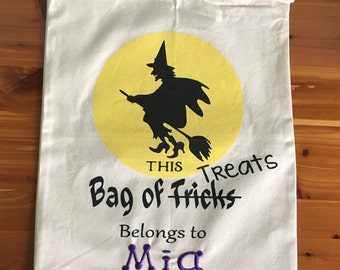 Trick or Treat Bag - Halloween Bag - Candy Bag - Halloween Sack - Personalized Trick or Treat Bag - Personalized Halloween - Treat Bag