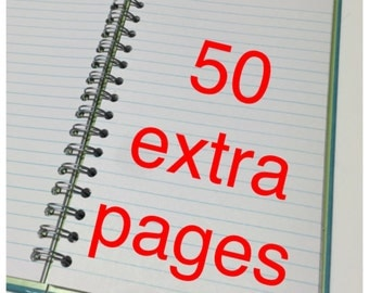 ADD ON ONLY 50 Note Pages to Any Repurposed Book Order