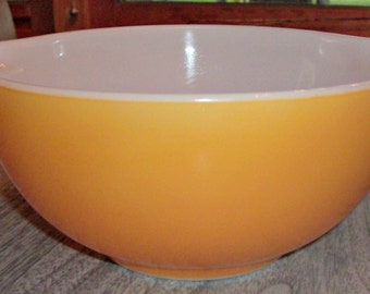 Vintage PYREX Yellow/Orange Cinderella Mixing Bowl