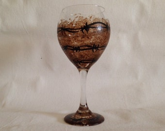 Barbwire Wine Glass