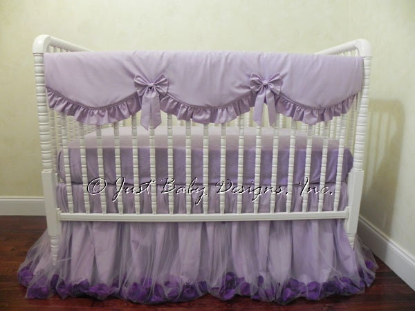 Crib Bedding Set Purple