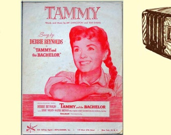 Tammy sung by Debbie Reynolds in the movie Tammy and the Bachelor Collectible Vintage Sheet Music
