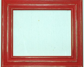 """F003 2"""" OKC Red Distressed Picture Frame"""
