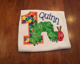 Catepillar Applique Birthday Shirt