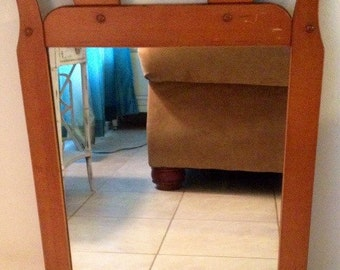 Holiday Sale:One of a kind Antique handmade mirror made out of maple wood(was 38 now 28)