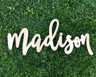 SALE! Custom Laser Cut Name Sign, Personalized Sign, Wooden Sign, Backdrop Name, Wooden Name Sign, Nursery Sign, Large Name Sign