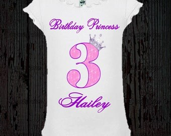 Birthday Princess Shirt - Pink and Purple