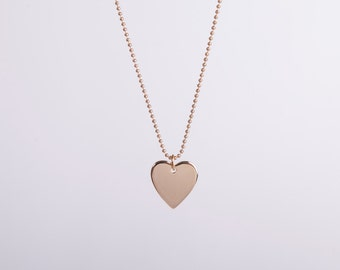 Long Golden Necklace Gold Heart Love Chain Hearts Gold Plated Chain Gold Plated