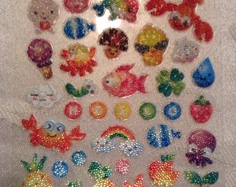 Microbead Textured Kawaii Stickers