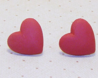 Red Heart Earrings, Heart Earring, Heart Jewelry, Fun Earrings