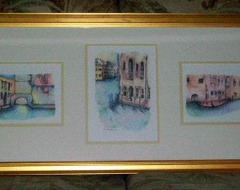 "ORIGINAL Colored pencil drawing of ""VENICE"" - ABSTRACT"
