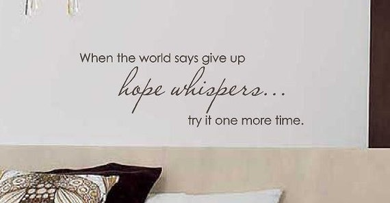 Hope Whispers Vinyl Wall Decal By CreativeExpressionsz On Etsy