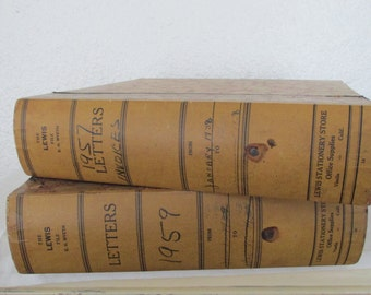 Vintage Book Style Index Boxes - 2