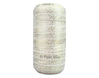 """FOE Gold Foil Zebra Print on White - 5/8"""" Fold Over Elastic for DIY Headbands 5 yards"""