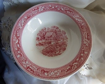 1960s Vintage // Large Vegetable Bowl // Royal China USA // Memory Lane Pattern