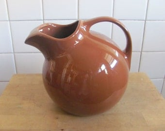Chocolate brown Hall ball pitcher