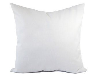 Two Solid White Pillow Covers - White Throw Pillows - White Couch Pillow - Cushion Cover - White Accent Pillow - Throw Pillow