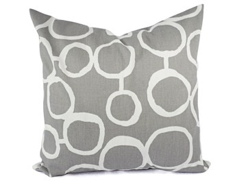 Two Grey and White Geometric Pillows - Decorative Throw Pillow - Grey Pillow Cover - Accent Pillow - Grey Throw Pillow - Grey Pillow Sham