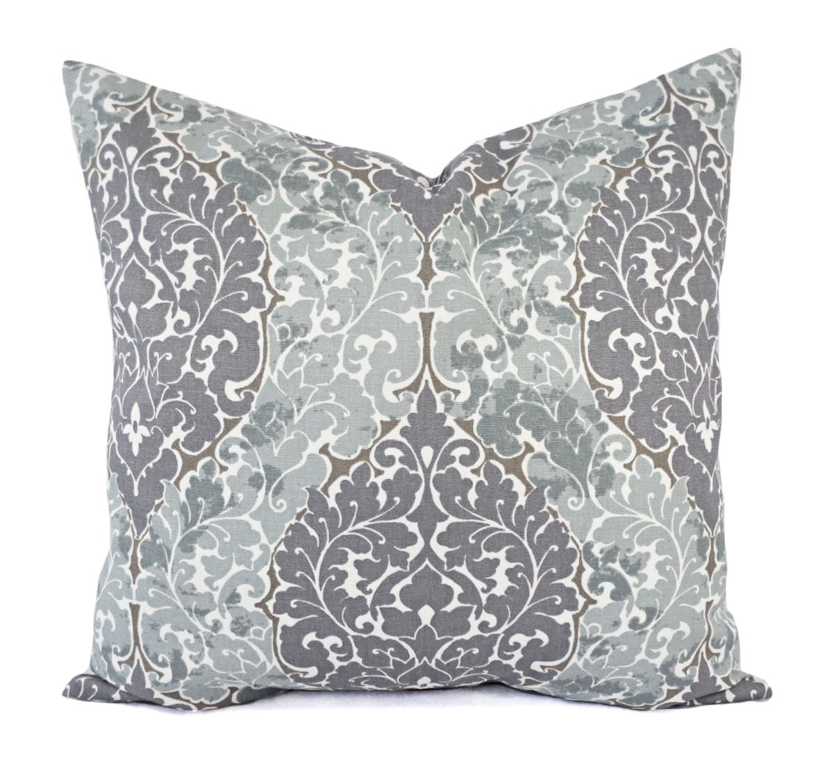 Two Decorative Pillow Covers Purple Pillow Cover Grey