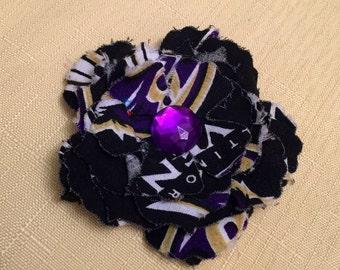 Team Spirit Fabric Flower Clip