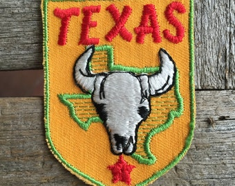 Texas Vintage Souvenir Travel Patch by Voyager