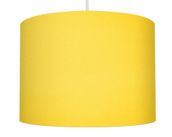 Sunshine Yellow Linen Fabric Drum Lampshade, Small Lampshade 20cm - Large Lampshade 40cm or Custom Order