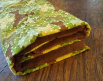 Green Camo Dots Blanket
