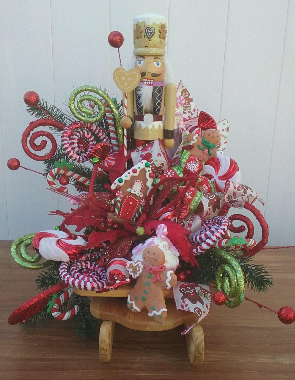 Christmas Sleigh Gingerbread Nutcracker Nutcracker Decor