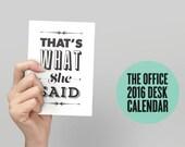 2016 The Office Calendar, The Office Tv Show, Michael Scott, Monthly Calendar, TV Calendar, Desk Calendar, Dwight Schrute