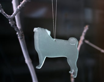 Pug Decoration, Xmas Pug, Pug Christmas Decoration, pug ornament, Pug Tree Decoration, Dog Lover gift, pug gift, pug, Christmas Tree Pug,