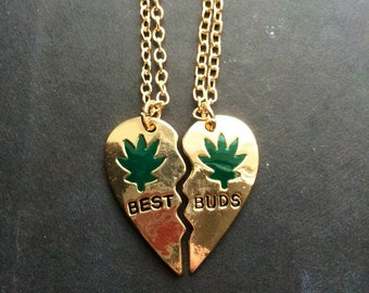 BEST BUDS Pot Friendship Necklace