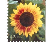 10 Unused Sunflower Stamps // Sunflowers // 10 Sunflower Postage Stamps for Mailing