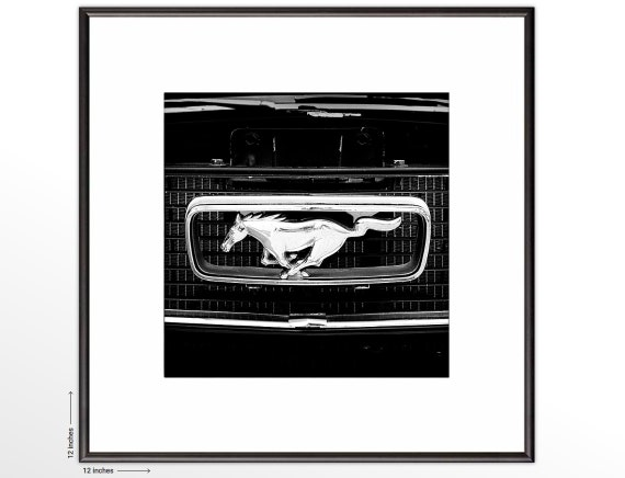 Ford Mustang. Framed Fine Art Print. Car Photography. Car lover's gift. FREE SHIPPING.