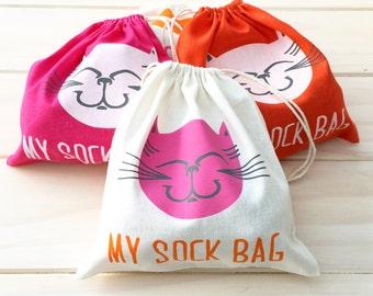 Stray Cat Sock Bags