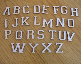 """Size 1"""", 1 1/4"""" or  1 1/2""""  Wood letters and numbers, Style 2,  laser cut numbers or letters for crafts birch plywood"""