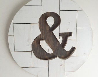 "18"" Ampersand Wood Round"