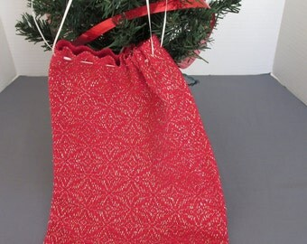 Large gift bag is handwoven