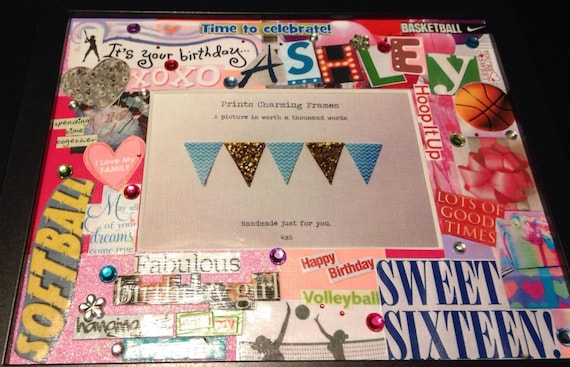 sweet 16 collage picture frame sample