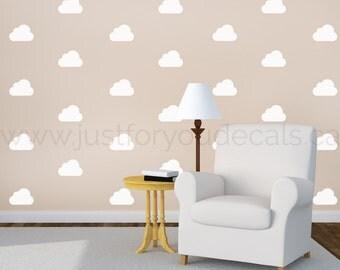 Cloud Wall Decal - Nursery Wall Decal - Cloud Patterned Wall Decal - Playroom Wall Decal - Play Room Wall Decal - 11-0005