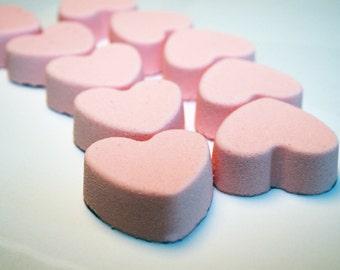 Heart Bath Bomb, Fizzies, Valentine