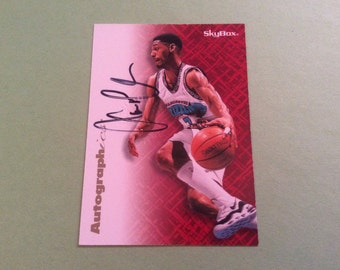 Lawrence Moten  Skybox Autographics Insert Card