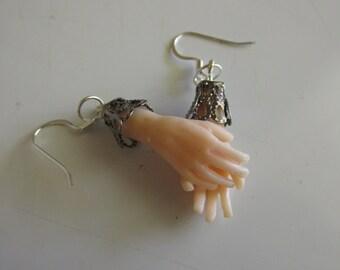 Hand Earrings, Halloween Severed Hands, Creepy Doll Hands, Halloween Jewelry, Polymer clay Jewelry, Handmade, Hand Sculpted
